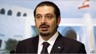 سعد الحريري يلقي بيانه في قصر الرئاسة