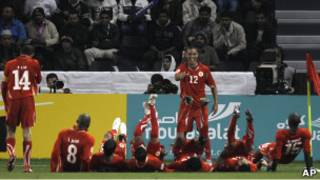 فرحة لاعبي البحرين
