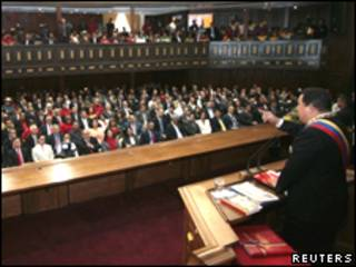 Chávez, durante discurso