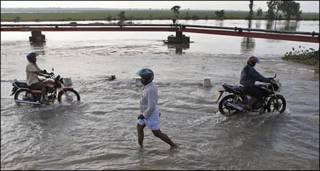 बाढ़ से प्रभावित लोग