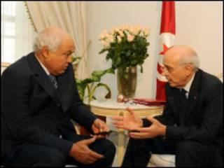 Firma Ministan Tunisia na ganawa da Ahmed Brahim na jam'iyyar adawa