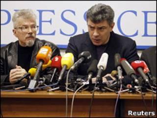 Пресс-конференция оппозиции