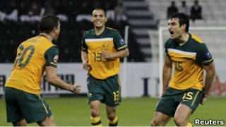 فرحة لاعبي أستراليا