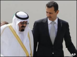 پادشاه سعودی و رئیس جمهوری سوریه