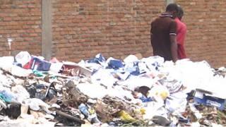 Ico ni ikirundo c'umucafu iruhande y'ihoteli nkuru hagati i Bujumbura