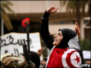 Protestos na Tunísia/Getty Images