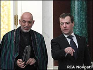 Хамид Карзай и Двмитрий Медведев