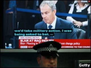 Телетрансляция выступления Тони Блэра