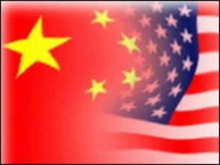 चीन और अमरीका के झंडे