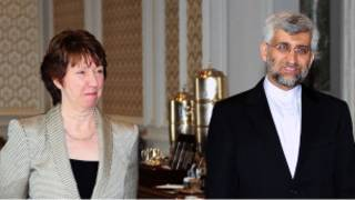 Catherine Ashton et Said Jalili