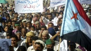 متظاهرون مؤيدون لانفصال جنوب اليمن