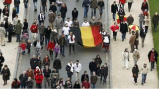 متظاهرون في بلجيكا