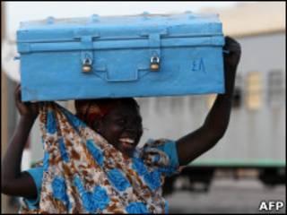 زن سودانی در جنوب