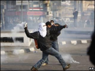 Manifestante no Cairo