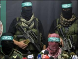 Пресс-коференция лидеров военного крыла ХАМАС