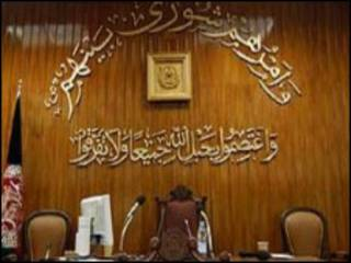 جایگاه خالی رئیس مجلس نمایندگان افغانستان