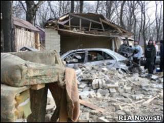 """Разрушенное здание кафе """"Белые ночи"""""""