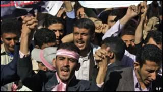 تظاهرات معارضة في اليمن