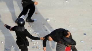 جانب من المظاهرات في الشارع المصري