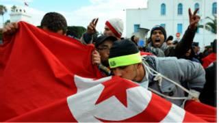 المظاهرات الاحتجاجية في تونس