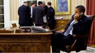 أوباما يتصل هاتفيا بمبارك
