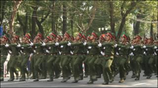 Diễu binh tại TP Hồ Chí Minh