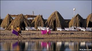 Туристы в Хургаде