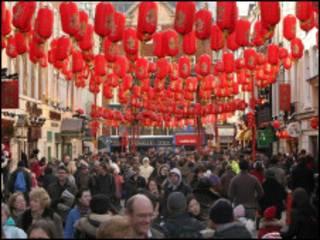伦敦中国城春节