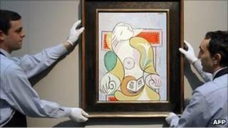 إحدى لوحات الرسام الشهير، بيكاسو