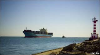 Судно Maersk Marathon заходить в Іллічівський порт