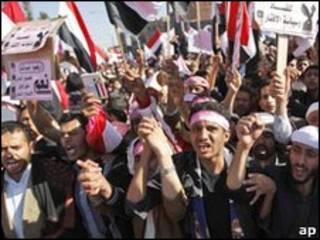 تظاهرکنندگان یمنی