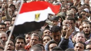 جانب من المظاهرات المطالبة برحيل مبارك