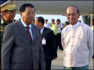 U Thein Sein and Gen Than Shwe