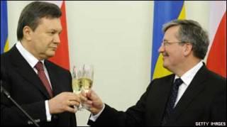 Віктор Янукович і Броніслав Коморовський