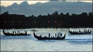 قوارب صيد تقليدية في كيرالا
