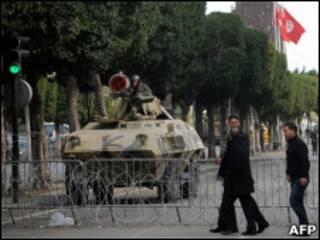 Barreira militar em Túnis