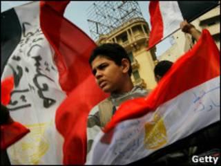 Мальчик на площади Тахрир