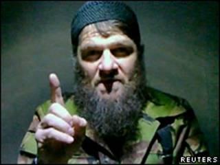 Doku Umarov em vídeo (Reuters)