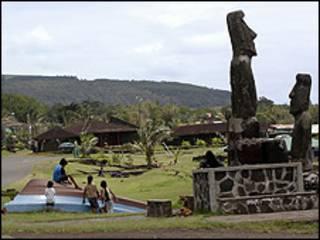 La localidad de Hanga Roa en Isla de Pascua