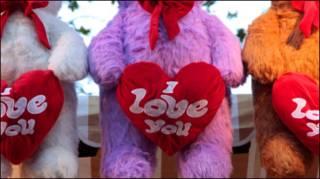 情人节的示爱小熊