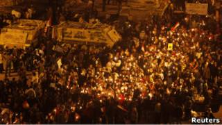 محتجون في ميدان التحرير