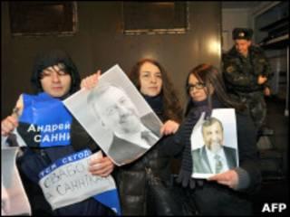 Выступление белорусских оппозиционеров
