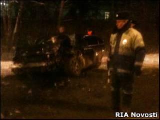 Автомобиль Минха после аварии