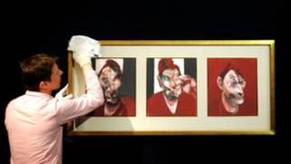 """تتكون لوحة """"لوسيان فرويد"""" من ثلاث قطع"""