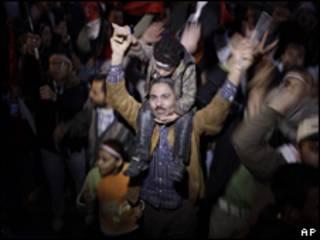 Celebração na Praça Tahrir