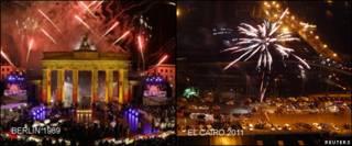 Festejos en Berlin en 1999 y en El Cairo en 2011