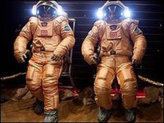 """Trajes de los astronautas de la misión """"Mars500"""""""