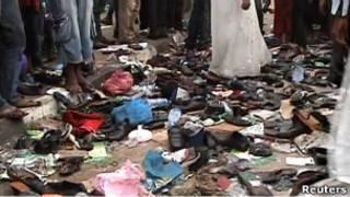 اثار ضحايا التدافع في المهرجان الانتخابي بنيجيريا
