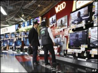 日本經濟受到出口下降和消費者需求減少的影響(資料照片,03/02/2010)