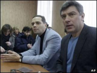 Владимир Милов и Борис Немцов в Савеловском суде